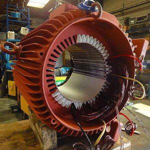 Afbeelding herwikkeling van elektromotor